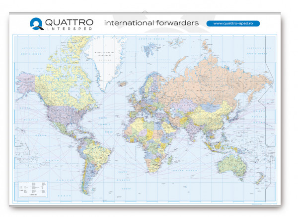Wandkarte Welt