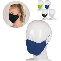 Wiederverwendbare dreilagige Gesichtmaske aus Baumwolle Made in Europe