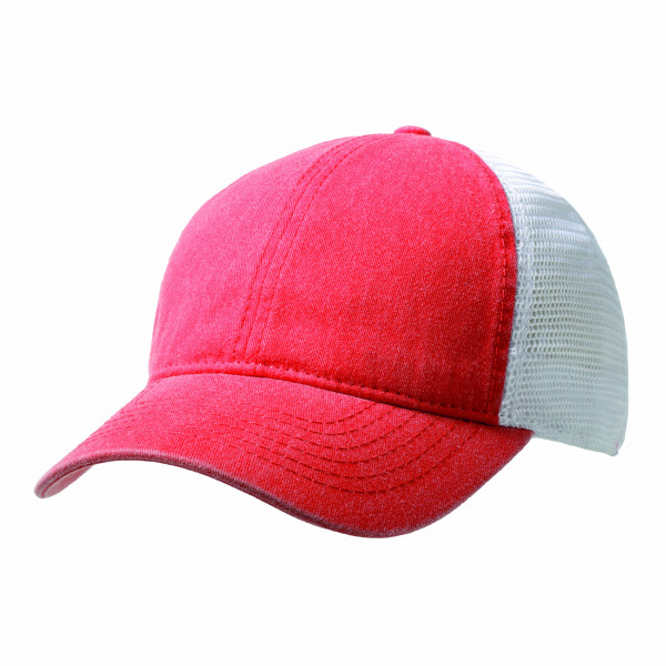 Washed Cotton Soft Mesh Trucker Cap